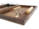 picture of Carved Maple Backgammon Set with Racks - Eagle (6 of 12)