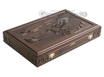 picture of Carved Maple Backgammon Set with Racks - Eagle (9 of 12)