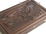 picture of Carved Maple Backgammon Set with Racks - Eagle (10 of 12)