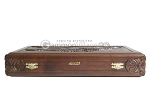 picture of Carved Maple Backgammon Set with Racks - Eagle (11 of 12)