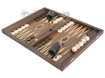 Carved Maple Backgammon Set with Racks - Dragon