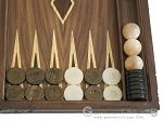 picture of Carved Maple Backgammon Set with Racks - Dragon (8 of 12)