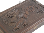 picture of Carved Maple Backgammon Set with Racks - Dragon (10 of 12)
