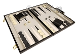 picture of 18-inch Deluxe Backgammon Set - Black (2 of 11)