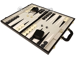 picture of 18-inch Deluxe Backgammon Set - Black (3 of 11)