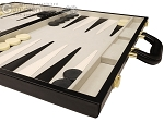picture of 18-inch Deluxe Backgammon Set - Black (6 of 11)