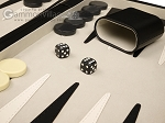 picture of 18-inch Deluxe Backgammon Set - Black (8 of 11)