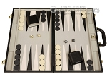 15-inch Deluxe Backgammon Set - Black - Item: 2235