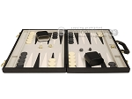 15-inch Deluxe Backgammon Set - Black