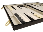picture of 15-inch Deluxe Backgammon Set - Black (5 of 11)