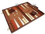 picture of 18-inch Deluxe Backgammon Set - Brown (2 of 11)