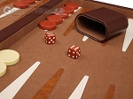 picture of 18-inch Deluxe Backgammon Set - Brown (8 of 11)