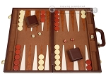 15-inch Deluxe Backgammon Set - Brown - Item: 2238