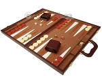 picture of 15-inch Deluxe Backgammon Set - Brown (3 of 11)
