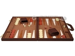 picture of 15-inch Deluxe Backgammon Set - Brown (4 of 11)