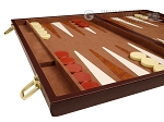 picture of 15-inch Deluxe Backgammon Set - Brown (5 of 11)
