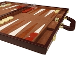 picture of 15-inch Deluxe Backgammon Set - Brown (6 of 11)