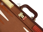 picture of 15-inch Deluxe Backgammon Set - Brown (7 of 11)