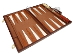 picture of 15-inch Deluxe Backgammon Set - Brown (9 of 11)