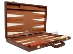 picture of 15-inch Deluxe Backgammon Set - Brown (10 of 11)