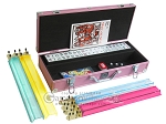 picture of White Swan Mah Jongg - White Tiles - Aluminum Case - Pink (2 of 11)