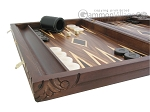 picture of Carved Maple Backgammon Set with Racks - Byzantine (5 of 12)
