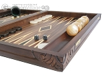 picture of Carved Maple Backgammon Set with Racks - Byzantine (6 of 12)