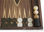 picture of Carved Maple Backgammon Set with Racks - Byzantine (8 of 12)