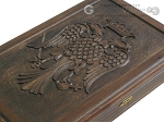 picture of Carved Maple Backgammon Set with Racks - Byzantine (10 of 12)