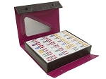 DOUBLE 12 Dominoes Set with Colored Numerals in Vinyl Case - Item: 2595
