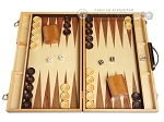 picture of 18-inch Wood Backgammon Set - Zebra Wood (1 of 11)