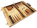 picture of 18-inch Wood Backgammon Set - Zebra Wood (2 of 11)