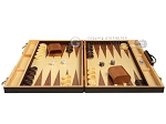 picture of 18-inch Wood Backgammon Set - Zebra Wood (4 of 11)