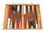 Mahogany Backgammon Set with Racks - Item: 2294