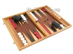 picture of Mahogany Backgammon Set with Racks (2 of 12)