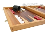 picture of Mahogany Backgammon Set with Racks (5 of 12)