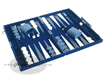 picture of 15-inch Deluxe Backgammon Set - Blue (2 of 9)
