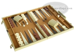 picture of 15-inch Deluxe Backgammon Set - Camel (2 of 9)