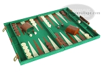 picture of 18-inch Deluxe Backgammon Set - Green (2 of 9)