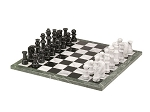 picture of 18in. Black and White Marble Chess Set (1 of 2)