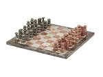 picture of 16in. Green and Tan Marble Chess Set (1 of 2)