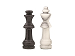 picture of 18in. Black and White Marble Chess Set (2 of 2)