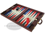 picture of Dal Negro Eco Leather Backgammon Set - Bordeaux (3 of 10)