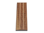 Solid Walnut 3 Track Cribbage Board with Inlay - Item: 3115