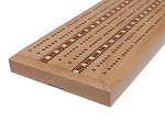 picture of Solid Oak 3 Track Cribbage Board with Inlay (2 of 3)