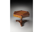 Alexander Olive Ash Burl Hexagonal Game Table - Item: 4007