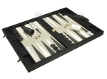 picture of Dal Negro Eco Leather Backgammon Set - Black (2 of 10)