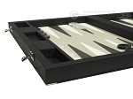picture of Dal Negro Eco Leather Backgammon Set - Black (5 of 10)
