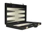 picture of Dal Negro Eco Leather Backgammon Set - Black (8 of 10)