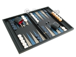 picture of Black Backgammon Set with Racks - Blue (2 of 12)